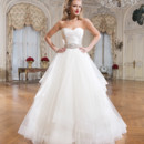Style 8779 Tulle and silk dupion ball gown featuring a strapless neckline