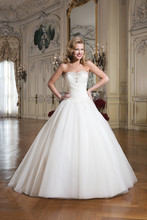 Style 8762 Tulle ball gown accented with a sweetheart neckline