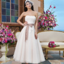 Sincerity Style No. 3820  Tulle, cotton corded lace ball gown accentuated with a strapless neckline