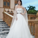 Sincerity Style No. 3834  Organza, venice lace ball gown featuring a sweetheart neckline