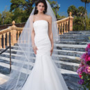 Sincerity Style No. 3839  Organza mermaid dress emphasized with a strapless neckline
