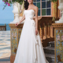 Sincerity Style No. 3841  Chiffon A-line dress adorned with a sweetheart neckline