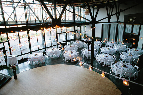 Indoor reception modern space new york summer wedding reception venue max at high falls floral designer pittsford florist rentals mccarthy tents junglespirit Image collections