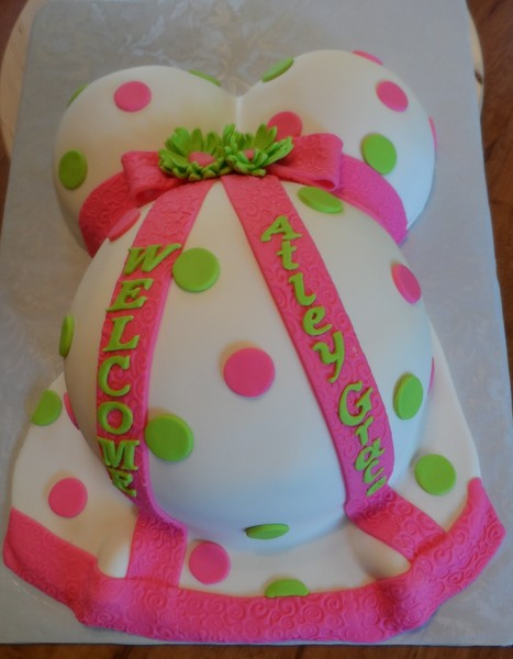 1425431679474 Baby Belly Cake 2 Tampa wedding cake