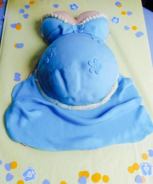 1425431686206 Baby Belly Cake Blue Tampa wedding cake