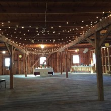 220x220 sq 1476464322607 barn wedding table settings 1 1
