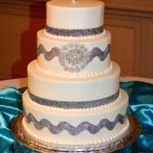 220x220 sq 1421095283219 silver band wedding cake