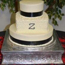 220x220 sq 1421095663247 wedding cake black z