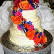 220x220 sq 1421095702774 wedding cake fresh flowers 1