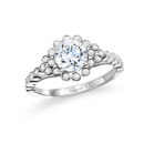 NZ1001  18K white gold mounting with 0.27ct.tw round cut diamonds