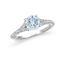 NZ1002  18K white gold mounting with round cut diamonds