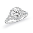 NZ1002-RB  18K white gold mounting with 0.50 ct.tw round cut diamonds