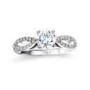 NZ1025  18K white gold mounting with 0.20 ct.tw round cut diamonds
