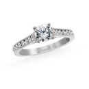 NZ1028  18K white gold mounting with 0.33 ct.tw round cut diamonds