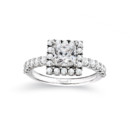 NZ1033P  18K white gold mounting with round cut diamonds