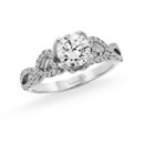 NZ1037  18K white gold mounting with 0.21 ct.tw round cut diamonds