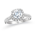 NZ1040  18K with gold mounting with 0.35 ct.tw round cut diamonds