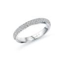 NZ1040BW  18K white gold diamond band with round cut diamonds