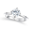 NZ1042  18K white gold mounting 0.02 ct.tw round cut diamonds