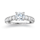 NZ1044  18K white gold mounting with 0.70 ct.tw round cut diamonds
