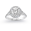 NZ1056  18K white gold mounting with 0.62 ct.tw round cut diamonds