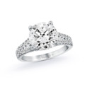 NZ1065  18K white gold mounting with 0.50 ct.tw round cut diamonds