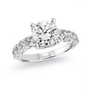 NZ1066  18K white gold mounting with 0.71 ct.tw round cut diamond
