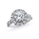 NZ1067  18K white gold mounting with 1.42 ct.tw round cut diamond
