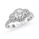 NZ1070  18K white gold mounting with 0.71 ct.tw round cut diamonds