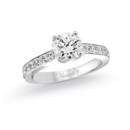 NZ1071W  18K white gold mounting with 0.48 ct.tw round cut diamonds