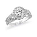 NZ1072  18K white gold mounting with 0.64 ct.tw round cut diamonds