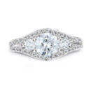NZ1073  18K white gold mounting with 0.64 ct.tw round cut diamonds