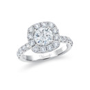 NZ1075CU  18K white gold mounting with 1.00 ct.tw round cut diamonds