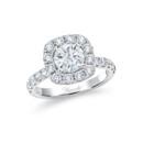 NZ1075CU  18K white gold mounting with 1.00 ct.tw round cut diamonds