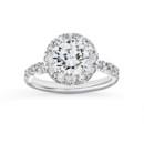 NZ1075W  18K white gold mounting with 0.76 ct.tw round cut diamonds