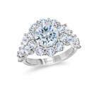 NZ1078R  18K white gold ring with round cut diamonds