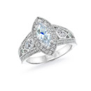 NZ1094M  18K white gold mounting with 0.65 ct.tw round, pear and princess cut diamonds http://www.nazarelle.com/jewelry/nz1094m.html