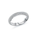 NZ10104B  18K white gold diamond eternity wedding band