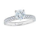 NZ10108  18K white gold mounting with round cut diamonds
