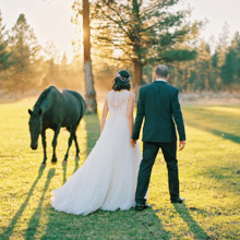 220x220 sq 1478670259229 bride and groom  horse