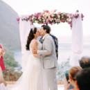 Venue: Sugar Beach  Bride's Gown: Austin Scarlett, fromKleinfeld Bridal  Bride's Shoes: Betsey Johnson  Jewelry:Ti Adoro  Bridesmaid Dresses:Lauren Gabrielson  Groom's Attire: Michael Andrews Bespoke