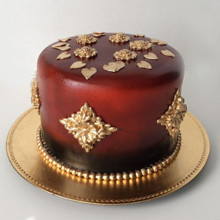 220x220 sq 1426708416740 red gold cake