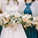 Dress Designer/Veil: Stephanie Allin Couture  Bridesmaid Attire: J.Crew (dresses), Anthropologie (belts), and Boden (cardigans)  Floral Designer:Seaport Flowers