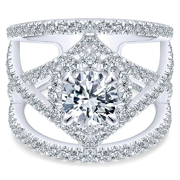 600x600 1475010686993 gabriel 14k white gold diamond halo engagement rin
