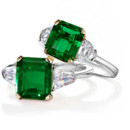 These beautiful Dual Toned Emerald engagement rings are just a sample of the unique and stunning engagement rings Whidbey Jeweler has to offer!