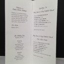 Interior message, itinerary, and directions for gate-folded wedding day map.