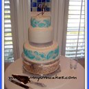 130x130 sq 1239815533703 bluesilverweddingcake