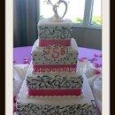 130x130 sq 1312149103126 24.pinkandblackfourtierweddingcake