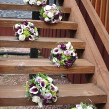220x220 sq 1476211505796 wilcox denning wedding bouquets on stairs