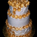 130x130 sq 1408552686242 gold flower cake